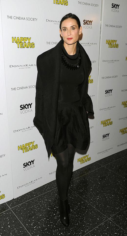 """<a href=""""http://movies.yahoo.com/movie/contributor/1800012196"""">Demi Moore</a> at the New York Cinema Society screening of <a href=""""http://movies.yahoo.com/movie/1810027690/info"""">Happy Tears</a> - 02/16/2010"""