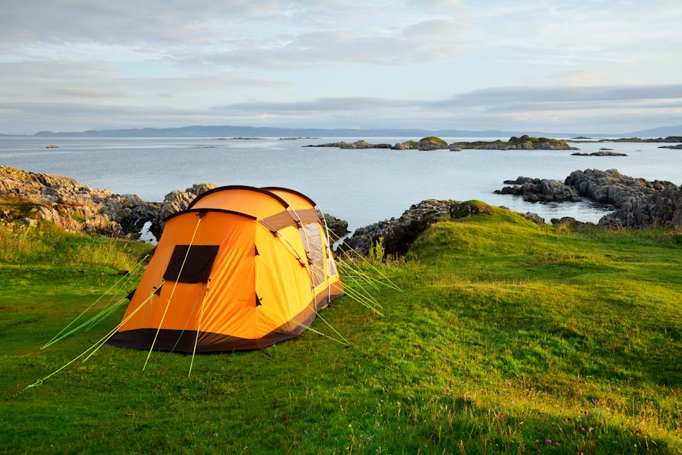 Camping has seen a boom in Britain this summer. (Getty Images)