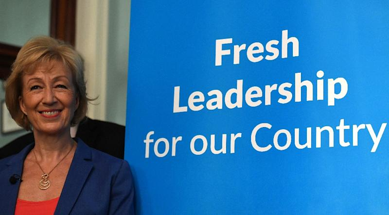 Barely known among ordinary Britons, pro-Brexit junior minister Andrea Leadsom is one of three candidates vying to be Britain's next prime minister (AFP Photo/Ben Stansall)