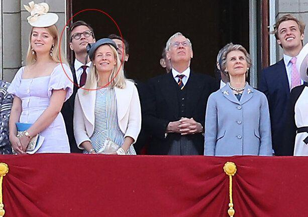 Prince Richar'd youngest daughter Lady Rose Gilman pictured with her husband George Gilman at Trooping the colour 2019