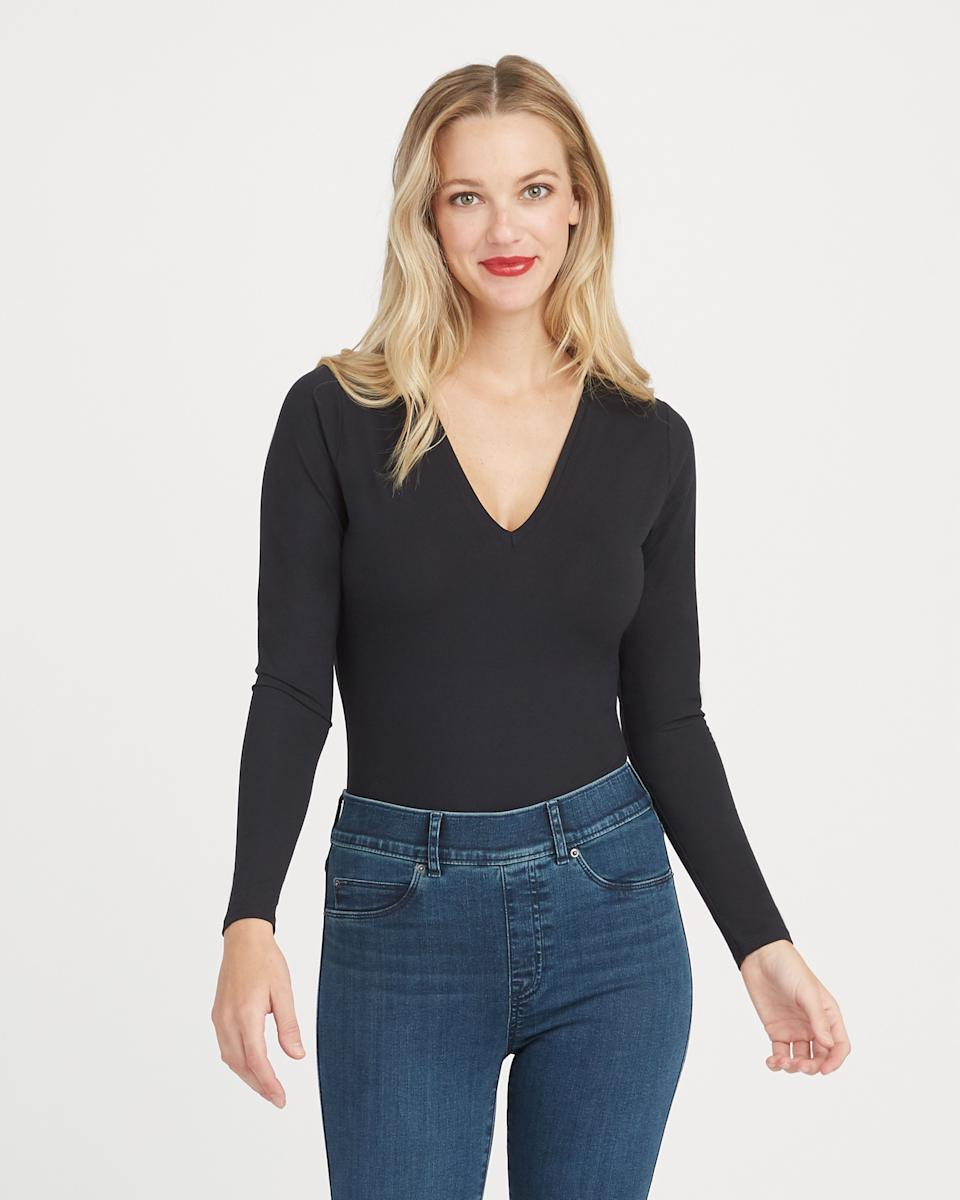 Suit Yourself Long Sleeve Thong Bodysuit - Spanx.