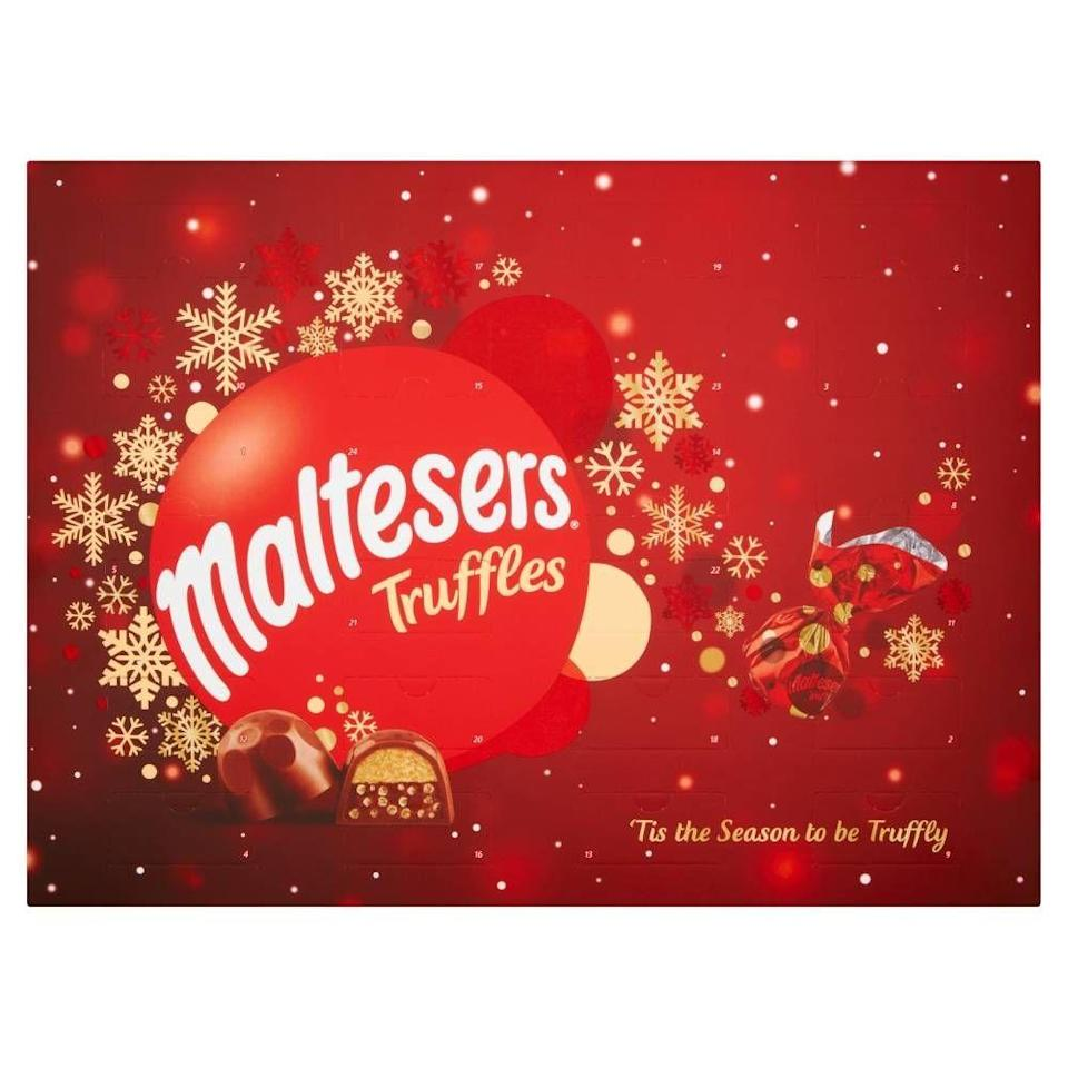 """<p>We thought the invention of Maltesers truffles was enough. Now we realise we just have to have one daily in December too. And hey, like the packet says, 'tis the season to be truffly! </p><p><strong><a class=""""link rapid-noclick-resp"""" href=""""https://www.amazon.co.uk/Maltesers-Truffles-Advent-Calendar-218g/dp/B07YN4LDF6?tag=hearstuk-yahoo-21&ascsubtag=%5Bartid%7C1919.g.4194%5Bsrc%7Cyahoo-uk"""" rel=""""nofollow noopener"""" target=""""_blank"""" data-ylk=""""slk:SHOP NOW"""">SHOP NOW </a>£9.99 Amazon</strong></p>"""