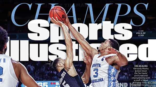 "<p>The North Carolina Tar Heels are champions for the fifth time.</p><p>Kennedy Meeks, Justin Jackson and Joel Berry helped lead UNC to a win over Gonzaga this week, etching their names into school history and cemeting UNC's place on the cover of SI.</p><p>It's a great time to celebrate with one of SI's myriad North Carolina covers.</p><p>They're available below. </p><p>April 10, 2017 issue</p><p>2017 championship issue</p><p> Featuring Kennedy Meeks on the cover. <a href=""http://www.sicovers.com/Product.aspx?pid=3115"" rel=""nofollow noopener"" target=""_blank"" data-ylk=""slk:Buy Now"" class=""link rapid-noclick-resp"">Buy Now</a></p><p>2017 championship commemorative</p><p> Featuring Joel Berry on the cover. <a href=""http://www.sicovers.com/Product.aspx?pid=3116"" rel=""nofollow noopener"" target=""_blank"" data-ylk=""slk:Buy Now"" class=""link rapid-noclick-resp"">Buy Now</a></p><p>Dean Smith special commemorative</p><p> With Smith on the cover. <a href=""http://www.sicovers.com/Product.aspx?pid=2871"" rel=""nofollow noopener"" target=""_blank"" data-ylk=""slk:Buy Now"" class=""link rapid-noclick-resp"">Buy Now</a></p><p>April 13, 2009 issue</p><p>2009 championship issue</p><p> Featuring Tyler Hansbrough on the cover. <a href=""http://www.sicovers.com/Product.aspx?pid=2204"" rel=""nofollow noopener"" target=""_blank"" data-ylk=""slk:Buy Now"" class=""link rapid-noclick-resp"">Buy Now</a></p><p>2009 championship commemorative</p><p> Commemorate the 2009 championship. <a href=""http://www.sicovers.com/Product.aspx?pid=2203"" rel=""nofollow noopener"" target=""_blank"" data-ylk=""slk:Buy Now"" class=""link rapid-noclick-resp"">Buy Now</a></p><p>April 11, 2005 issue</p><p>2005 championship cover</p><p> Featuring Sean May. <a href=""http://www.sicovers.com/Product.aspx?pid=598"" rel=""nofollow noopener"" target=""_blank"" data-ylk=""slk:Buy Now"" class=""link rapid-noclick-resp"">Buy Now</a></p><p>Dean Smith Sportsman of the Year cover</p><p> Memorably featuring Smith in black and white. <a href=""http://www.sicovers.com/Product.aspx?pid=891"" rel=""nofollow noopener"" target=""_blank"" data-ylk=""slk:Buy Now"" class=""link rapid-noclick-resp"">Buy Now</a></p><p>April 12, 1993 issue</p><p>1993 championship cover</p><p> Featuring Eric Montross. <a href=""http://www.sicovers.com/Product.aspx?pid=1076"" rel=""nofollow noopener"" target=""_blank"" data-ylk=""slk:Buy Now"" class=""link rapid-noclick-resp"">Buy Now</a></p><p>November 28, 1983 issue</p><p>1983 season preview</p><p> Featuring Michael Jordan and Sam Perkins. <a href=""http://www.sicovers.com/Product.aspx?pid=1380"" rel=""nofollow noopener"" target=""_blank"" data-ylk=""slk:Buy Now"" class=""link rapid-noclick-resp"">Buy Now</a></p><p>April 5, 1982 issue</p><p>1983 championship cover</p><p> Featuring James Worthy. <a href=""http://www.sicovers.com/Product.aspx?pid=1435"" rel=""nofollow noopener"" target=""_blank"" data-ylk=""slk:Buy Now"" class=""link rapid-noclick-resp"">Buy Now</a></p><p>Nov. 30, 1981 cover</p><p>Season preview cover</p><p> Featuring Dean Smith and his team. <a href=""http://www.sicovers.com/Product.aspx?pid=1449"" rel=""nofollow noopener"" target=""_blank"" data-ylk=""slk:Buy Now"" class=""link rapid-noclick-resp"">Buy Now</a></p><p> .box { width: 75%; border: 1px solid #B71C1C; margin: 0 auto!important; } .cover { float: left; height: 160px!important; padding-bottom: 15px!important; padding-right: 15px; } .cover2 { float: left; height: 168px!important; padding-bottom: 15px!important; padding-right: 15px; } .box h1 { font-size: 24px!important; font-weight: 1000!important; line-height: 22px!important; } .box h2 { font-size: 12px!important; font-weight: 600!important; line-height: 12px!important; text-align: center!important; } .description { font-size: 12px!important; line-height: 1!important; padding: 0 10px 5px 0; } .buy-button { background-color: #B71C1C; color: #fff; text-align: center; margin-left: 40%; width: 40%; } .buy-button a, a:hover { color: #fff; }</p><p>To view all of SI's past covers, click <a href=""http://www.sicovers.com/"" rel=""nofollow noopener"" target=""_blank"" data-ylk=""slk:here"" class=""link rapid-noclick-resp"">here</a>.</p>"