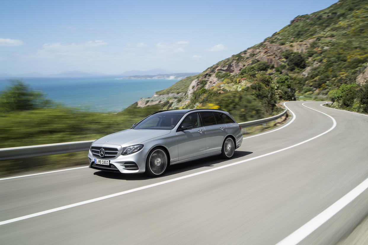 The E-Class Estate features a huge boot