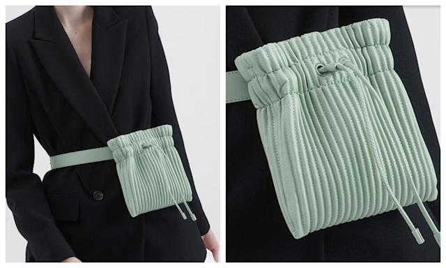 CHARLES & KEITH Pleated Belt Bag