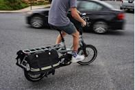 """<p>Every cyclist should pay attention to the <a href=""""https://www.bicycling.com/skills-tips/a33499999/bike-hand-signals/"""" rel=""""nofollow noopener"""" target=""""_blank"""" data-ylk=""""slk:flow of traffic"""" class=""""link rapid-noclick-resp"""">flow of traffic</a>, but it's even more critical on an e-bike. Drivers may not expect a cyclist to reach 20 mph on the road, and that disconnect can lead to potentially dangerous scenarios. </p><p>""""As electrical bicycles become increasingly popular, other road users may need to recalibrate their expectations to maintain a safe interaction with this new type of bicycle,"""" Chalmers University of Technology researcher Marco Dozza wrote in a <a href=""""https://www.saferresearch.com/library/e-bikesafe-naturalistic-cycling-study-understand-how-electrical-bicycles-change-cycling"""" rel=""""nofollow noopener"""" target=""""_blank"""" data-ylk=""""slk:study"""" class=""""link rapid-noclick-resp"""">study</a> for the International Cycling Safety Conference. That means not only thinking about what <em>you're</em> doing on the bike, but also how drivers perceive you.</p>"""