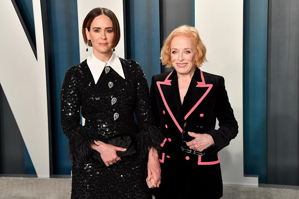 Sarah Paulson and partner Holland Taylor have a 32-year-old age gap and are perfectly happy together (Image: Getty Images)