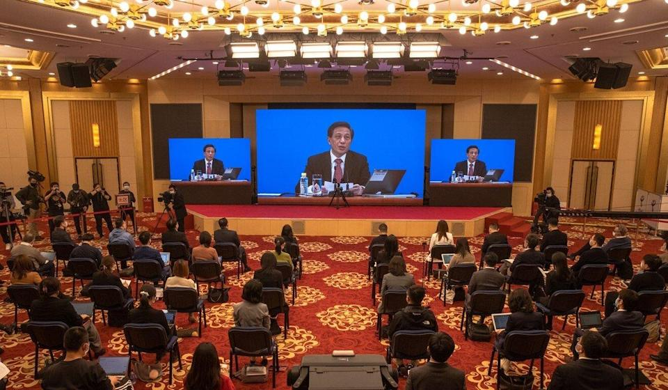 Zhang Yesui said China and the US could work together in areas like climate change and the Covid-19 response. Photo: EPA-EFE