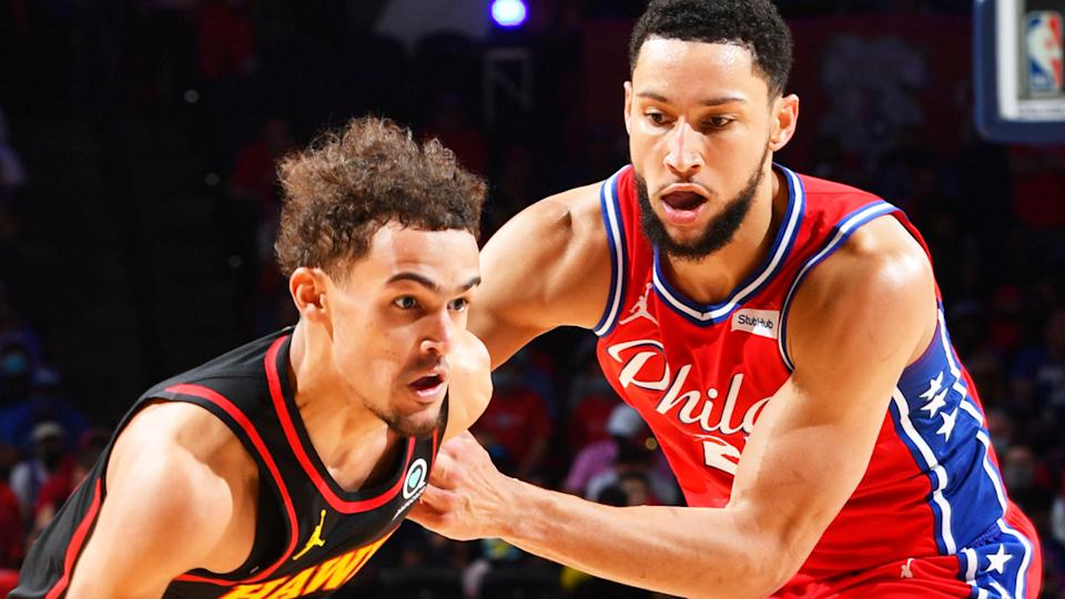 Ben Simmons say he wants more time guarding Trae Young. (Photo by Jesse D. Garrabrant/NBAE via Getty Images)