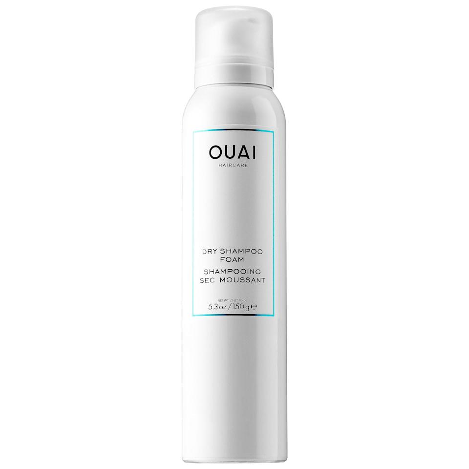 """<p>""""I finally got my hands on Jen Atkin's <a href=""""https://www.popsugar.com/buy/Ouai%20Dry%20Shampoo%20Foam-218047?p_name=Ouai%20Dry%20Shampoo%20Foam&retailer=shop.nordstrom.com&pid=218047&price=28&evar1=bella%3Aus&evar9=43600835&evar98=https%3A%2F%2Fwww.popsugar.com%2Fbeauty%2Fphoto-gallery%2F43600835%2Fimage%2F43600836%2FOuai-Dry-Shampoo-Foam&list1=hair%2Cbeauty%20products%2Cdry%20shampoo%2Chair%20products%2Chair%20care%2Cbeauty%20shopping%2Cbeauty%20review%2Couai%2Cbeauty%20product%20review&prop13=mobile&pdata=1"""" rel=""""nofollow"""" data-shoppable-link=""""1"""" target=""""_blank"""" rel=""""nofollow"""" class=""""ga-track"""" data-ga-category=""""Related"""" data-ga-label=""""http://shop.nordstrom.com/S/4632543"""" data-ga-action=""""In-Line Links"""">Ouai Dry Shampoo Foam</a> ($28), and it's the best product I've ever used. As someone with thin hair, I've never been a huge fan of dry shampoo because of the pesky white residue, and I would rather wash my hair if it's dirty. But this product changed that. Not only does it smell delicious, but it also magically brought my hair back to life with softness and volume even after a few days of not washing."""" - Perri Konecky, associate editor, Trending and Viral Features</p>"""
