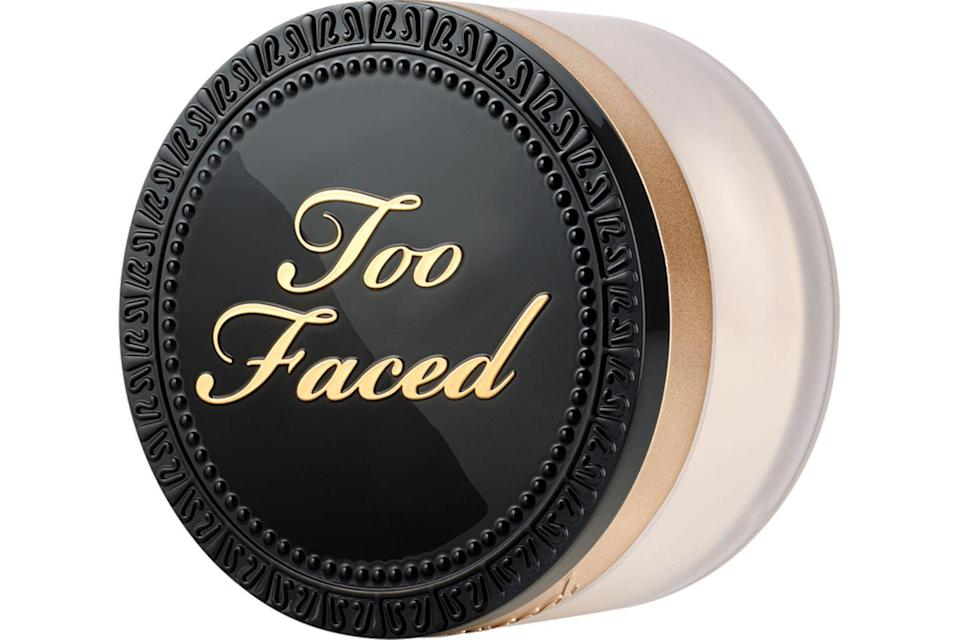 """<p>If you find your makeup melts off half way through the day, it might be worth trying a setting powder. The ever-popular Too Faced Born This Way Loose Powder is a serious crowd pleaser thanks to it's ability to lock down makeup and absorb excess oil - without looking heavy of cakey on the skin. </p><p><a href=""""https://www.cultbeauty.co.uk/too-faced-born-this-way-setting-powder.html"""" rel=""""nofollow noopener"""" target=""""_blank"""" data-ylk=""""slk:buy now"""" class=""""link rapid-noclick-resp"""">buy now</a><br></p>"""