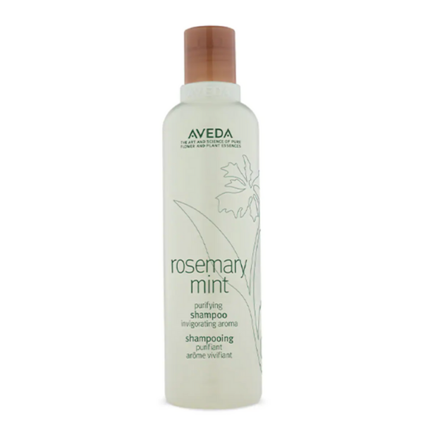 Rosemary mint purifying shampoo. Image via Aveda.