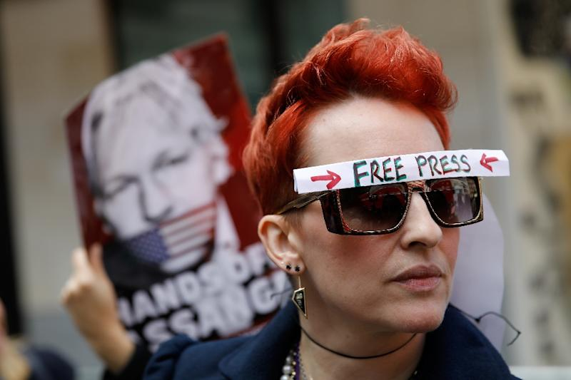 Assange's legal team and major US newspapers argue that his prosecution could shatter free speech rights (AFP Photo/Tolga AKMEN)