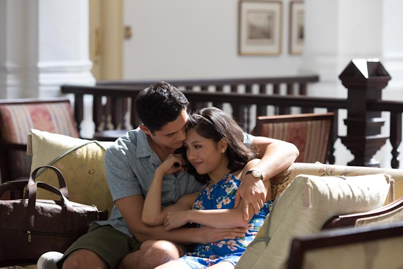 The couple's scenes were filmed in the 'grand hotel' building. Source: Roadshow Films, The ultimate Crazy Rich Asians guide to Singapore