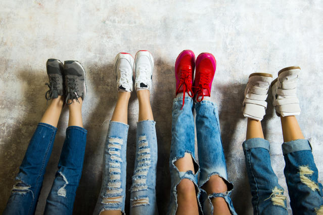 Students will no longer be able to wear jeans like these at one school district. (Photo: Aleksander Rubtsov/Getty Images)