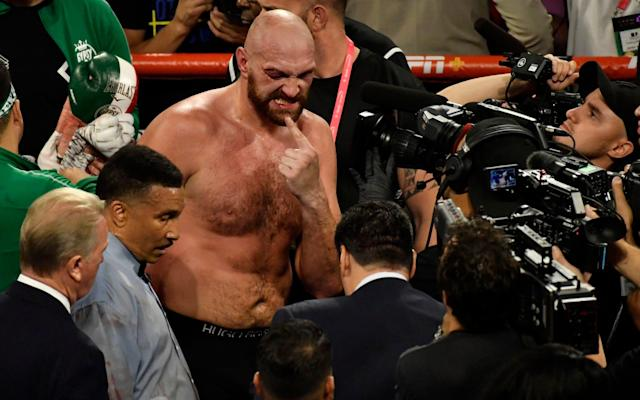 Fury was forced to scrap his way to a gory unanimous decision over previously undefeated Wallin - Getty Images North America