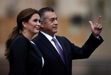 Independent presidential candidate Jaime Rodriguez and his wife Adeline Davalos. in Mexico City