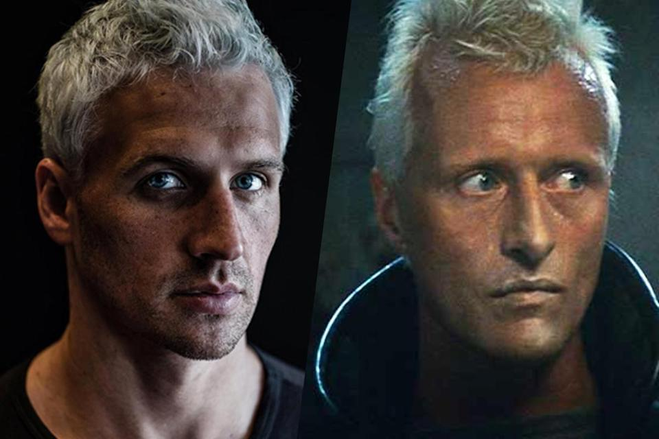 <p>American swimmer Ryan Lochte (left) and Rutger Hauer from Blade Runner (right). </p>