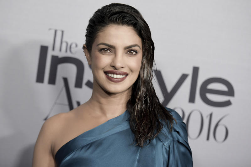 "FILE - This Oct. 24, 2016 file photo shows actress Priyanka Chopra at the 2nd Annual InStyle Awards in Los Angeles. ABC says Chopra is ""home resting comfortably"" after being injured on the set of the action-thriller series ""Quantico"" on Thursday, Jan. 12, 2017.  (Photo by Richard Shotwell/Invision/AP, File)"