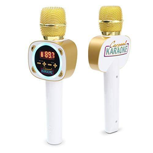 """<p><strong>Singing Machine</strong></p><p>amazon.com</p><p><strong>49.84</strong></p><p><a href=""""https://www.amazon.com/dp/B07SLFVGSC?tag=syn-yahoo-20&ascsubtag=%5Bartid%7C10055.g.29551016%5Bsrc%7Cyahoo-us"""" rel=""""nofollow noopener"""" target=""""_blank"""" data-ylk=""""slk:Shop Now"""" class=""""link rapid-noclick-resp"""">Shop Now</a></p><p>Inspired by James Corden's popular segment, this Carpool Karaoke set made it on <em>Good Housekeeping</em>'s <a href=""""https://www.goodhousekeeping.com/childrens-products/toy-reviews/g26443909/best-new-toys-2019/"""" rel=""""nofollow noopener"""" target=""""_blank"""" data-ylk=""""slk:Hot Toy list"""" class=""""link rapid-noclick-resp"""">Hot Toy list</a> in 2019 with good reason: Once you tune the mic to your local radio station, <strong>you can broadcast your voice over the car's speakers</strong>. (Not the driver: Drivers still have to keep both hands on the wheel.)<br></p>"""