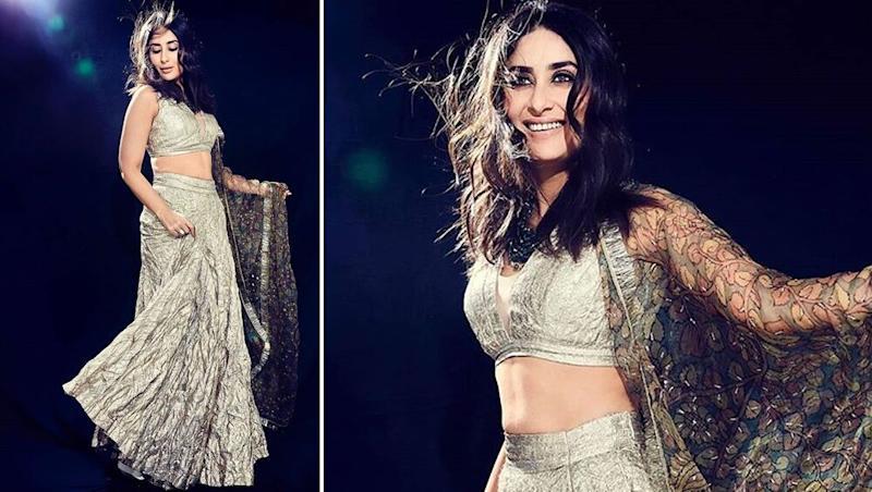 Kareena Kapoor Khan's Dazzling Photoshoot in a Silver Nazm-e-Itrh Lehenga is Every Girl's Dream (View Pics)