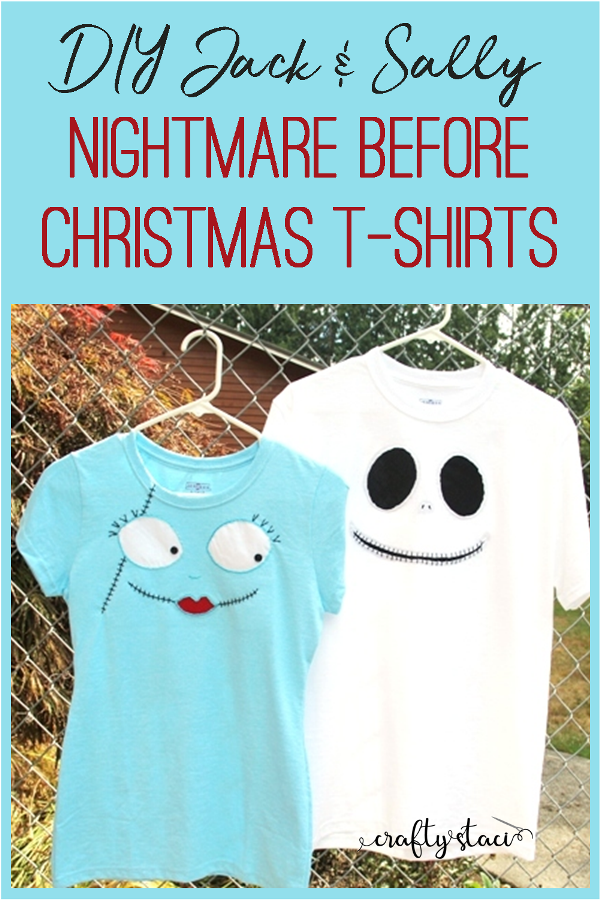 "<p>Or, for more authentic handmade shirts, these matching Jack and Sally looks will get the point across without going all out. </p><p><strong>Get the tutorial at <a href=""https://www.craftystaci.com/blog/the-nightmare-before-christmas-inspired-t-shirts"" target=""_blank"">Crafty Staci</a>. </strong></p><p><strong><a class=""body-btn-link"" href=""https://www.amazon.com/Hanes-Womens-T-Shirt-X-Large-Light/dp/B00KRYM6YW/?tag=syn-yahoo-20&ascsubtag=%5Bartid%7C10050.g.22459775%5Bsrc%7Cyahoo-us"" target=""_blank"">SHOP BLUE SHIRTS</a><br></strong></p>"