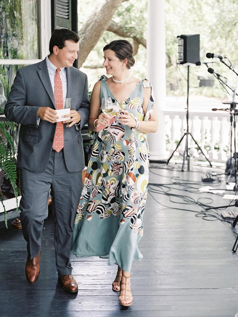 I also love this picture of my brother and sister so much—aren't they the cutest? They gave a great toast welcoming Walker and thanking him for taking me, the hoarder and crafter, off their hands.