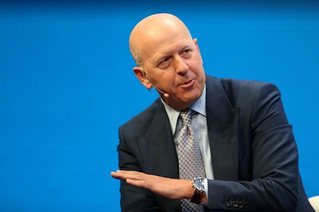 David Solomon, President and Co-Chief Operating Officer of Goldman Sachs, speaks during the Milken Institute Global Conference in Beverly Hills, California, U.S., May 1, 2017. REUTERS/Lucy Nicholson
