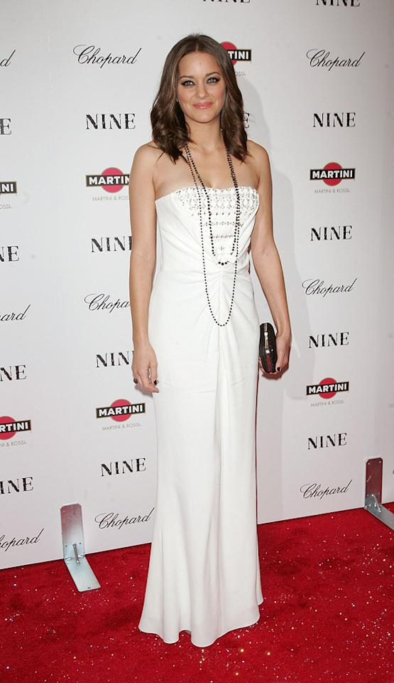 """<a href=""""http://movies.yahoo.com/movie/contributor/1800277300"""">Marion Cotillard</a> at the New York City screening of <a href=""""http://movies.yahoo.com/movie/1810053986/info"""">Nine</a> - 12/15/2009"""