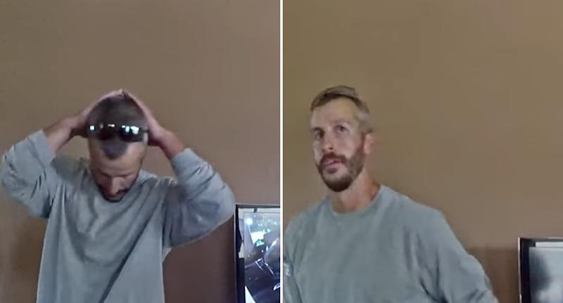 Chris Watts seen in Netflix documentary American Murder: The Family Next Door.
