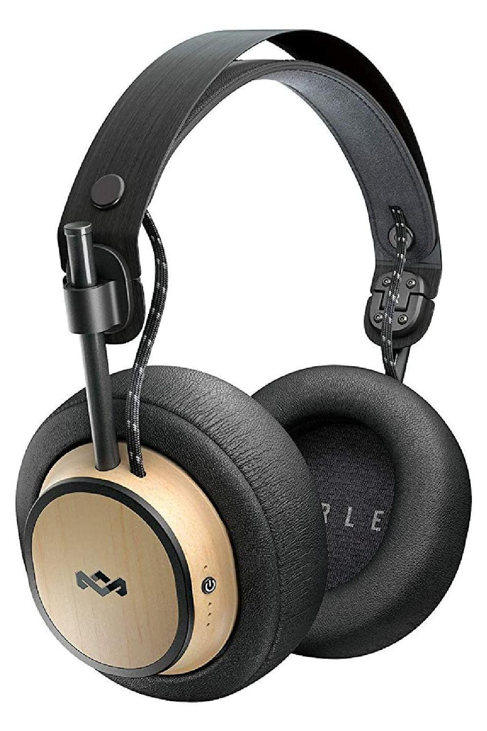 """<p><strong>House of Marley</strong></p><p>amazon.com</p><p><strong>$195.95</strong></p><p><a href=""""https://www.amazon.com/dp/B07MM2KQWQ?tag=syn-yahoo-20&ascsubtag=%5Bartid%7C10049.g.5199%5Bsrc%7Cyahoo-us"""" rel=""""nofollow noopener"""" target=""""_blank"""" data-ylk=""""slk:Shop Now"""" class=""""link rapid-noclick-resp"""">Shop Now</a></p><p>If his other headphones are worn out or don't have great sound quality, indulge him with a pair of Bluetooth over-the-ear ones made with comfortable memory foam. The best part? They charge quickly and have a 30-hour battery life.</p>"""