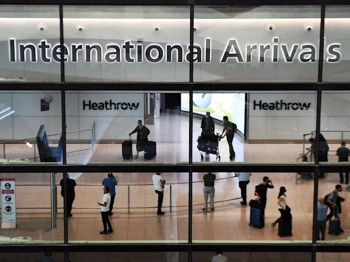 The British government has continued to support it stance on a 14-day quarantine for travellers returning to Britain from Spain: EPA