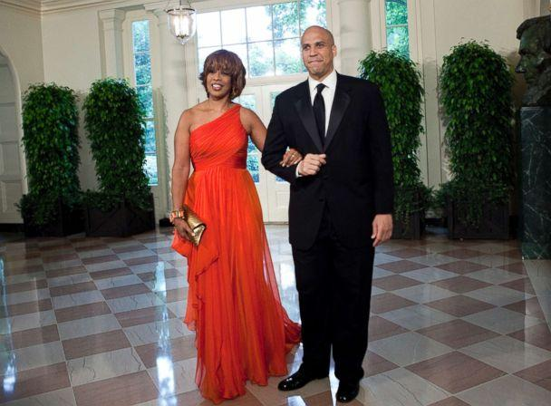PHOTO: Gayle King and Cory Booker, Mayor of Newark, N.J., arrive at the White House for a state dinner May 19, 2010 in Washington. (Brendan Smialowski/Getty Images, FILE)