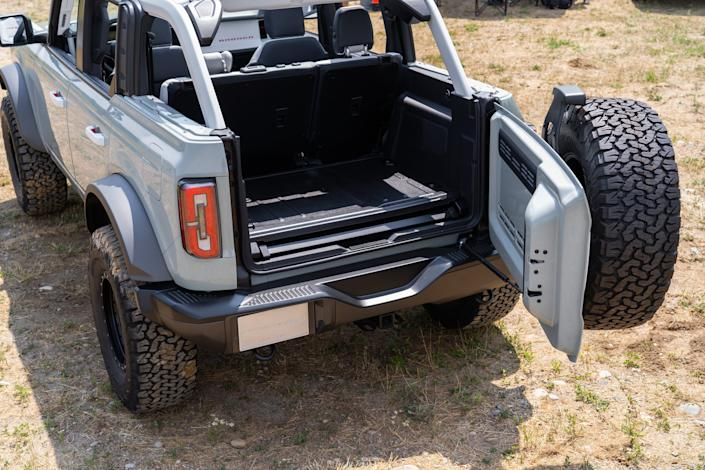 A rear view of a Ford Bronco 4-door is seen in Holly on July 10, 2020.