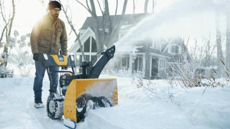 The Cub Cadet 2X two-stage gas snow blower is a powerful machine made to navigate up to a foot of snow at a time.