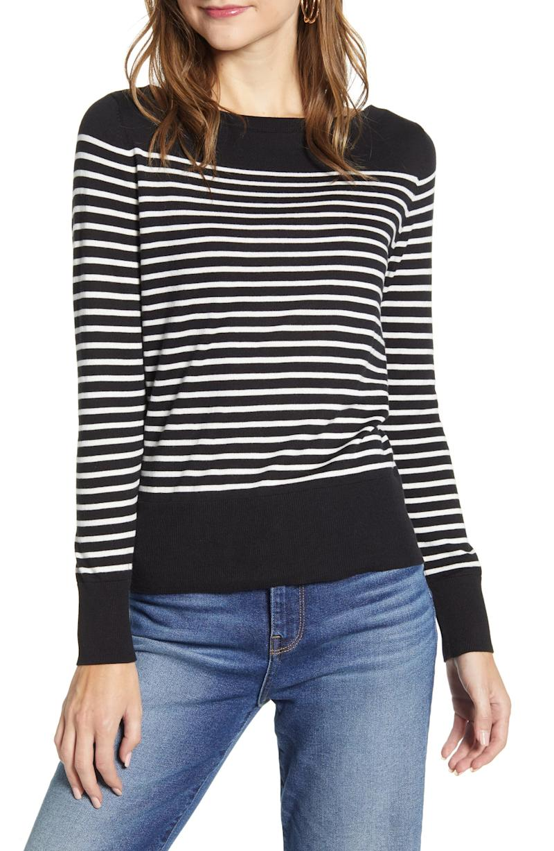 Halogen Bateau Neck Sweater. Image via Nordstrom.
