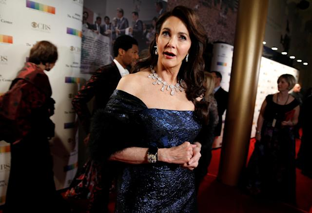 Lynda Carter attends the taping of the Kennedy Center Honors in December 2017. (Photo: Reuters/Joshua Roberts)