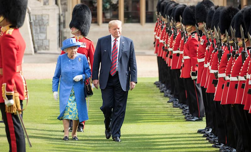 President Trump meets the Queen during his working visit to the UK in July 2018. (Getty Images)