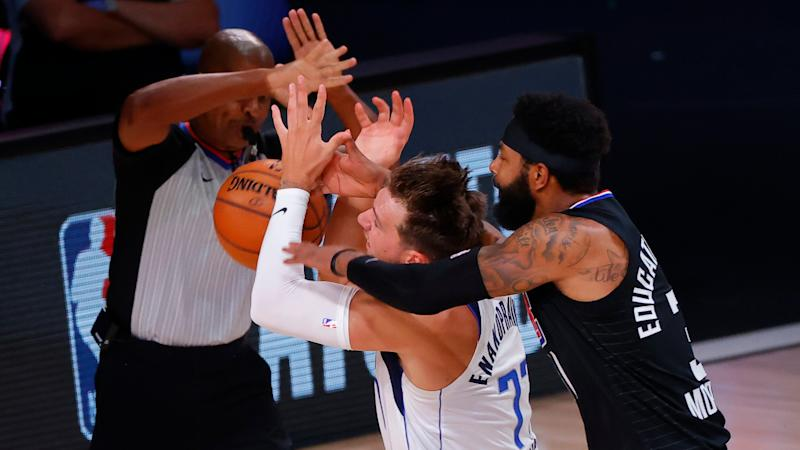 Clippers' Marcus Morris ejected for Flagrant 2 foul after hacking Mavericks' Luka Doncic