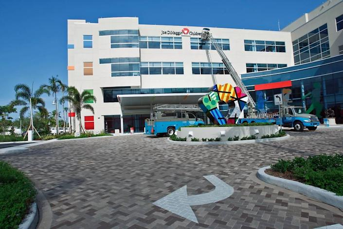 Joe DiMaggio Children's Hospital in Hollywood has seen its number of pediatric patients with COVID-19 soar in recent weeks.