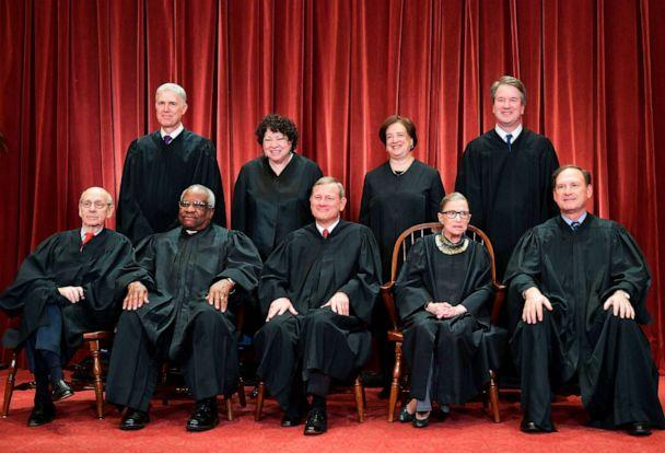 PHOTO: Justices of the US Supreme Court pose for their official photo at the Supreme Court in Washington, Nov. 30, 2018. (Mandel Ngan/AFP/Getty Images, FILE)