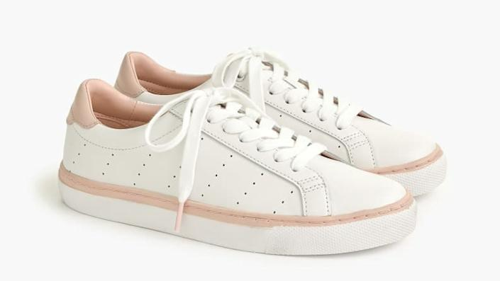 A pop of pink keeps these shoes fun.