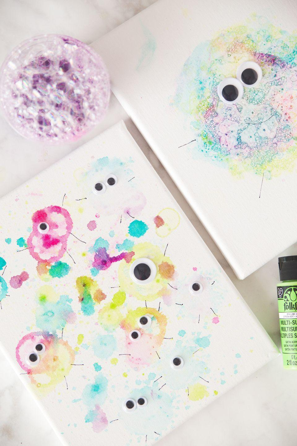 "<p>Not all monsters are scary. This fun craft, which uses a bubbly blend of paint and dish soap, is proof. </p><p><em><a href=""https://www.madetobeamomma.com/bubble-paint-monsters/"" rel=""nofollow noopener"" target=""_blank"" data-ylk=""slk:Get the tutorial at Made to be a Momma »"" class=""link rapid-noclick-resp"">Get the tutorial at Made to be a Momma »</a></em></p>"
