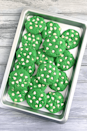 """<p>What says St. Patrick's Day more than these emerald-hued cookies? The white chocolate chips are the perfect addition.</p><p><strong>Get the recipe at <a href=""""https://www.mydiasporakitchen.com/st-patricks-day-cookies/"""" rel=""""nofollow noopener"""" target=""""_blank"""" data-ylk=""""slk:My Diaspora Kitchen"""" class=""""link rapid-noclick-resp"""">My Diaspora Kitchen</a>.</strong></p><p><strong><a class=""""link rapid-noclick-resp"""" href=""""https://go.redirectingat.com?id=74968X1596630&url=https%3A%2F%2Fwww.walmart.com%2Fsearch%2F%3Fquery%3Dbaking%2Bmats&sref=https%3A%2F%2Fwww.thepioneerwoman.com%2Ffood-cooking%2Fmeals-menus%2Fg35269814%2Fst-patricks-day-desserts%2F"""" rel=""""nofollow noopener"""" target=""""_blank"""" data-ylk=""""slk:SHOP BAKING MATS"""">SHOP BAKING MATS</a><br></strong></p>"""