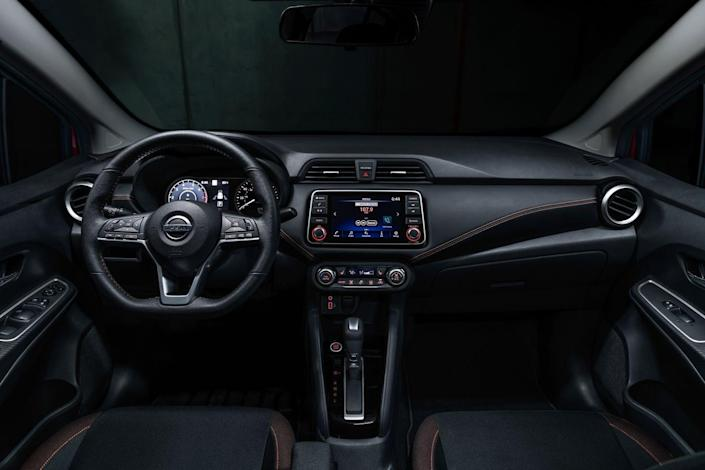 <p>More high-tech assists are available with what Nissan calls Safety Shield 360, a package that adds adaptive cruise control, blind-spot monitoring, and rear cross-traffic alert.</p>