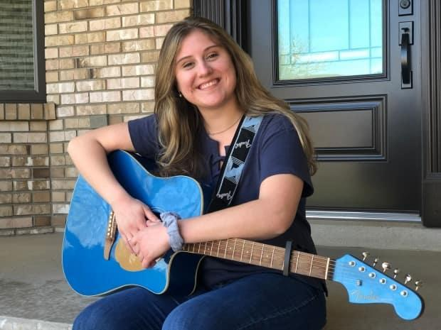 Vanessa Grace works as a nurse at Windsor Regional Hospital and wrote a song to lift the spirits of her co-workers. (Jacob Barker/CBC - image credit)