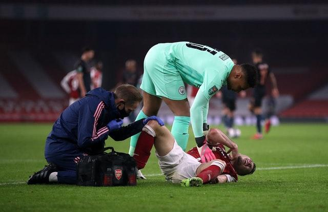Gabriel Martinelli  suffered his latest injury as Arsenal were outclassed