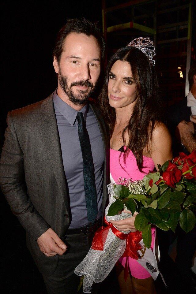 Keanu Reeves and Sandra Bullock attend Spike TV's