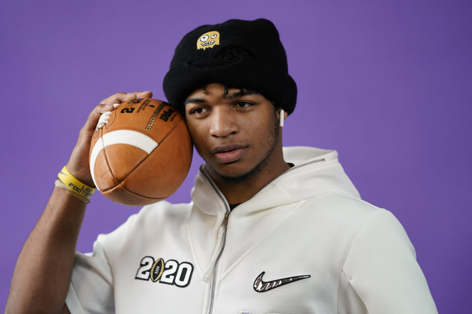 LSU wide receiver Ja'Marr Chase could end up a top-five pick next spring. (AP Photo/David J. Phillip).