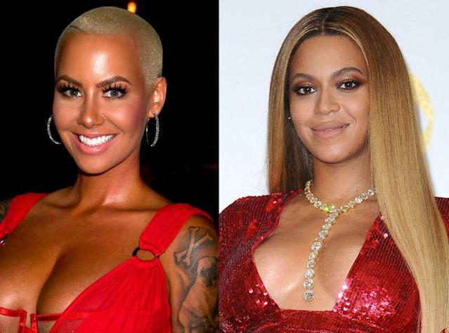 Amber Rose takes aim at Beyoncé on Twitter. (Photo: Getty Images)